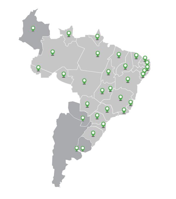 Area de atuação da Céleres Ambiental